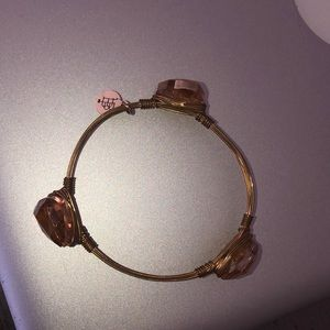 Women's bangle bracelet rose gold